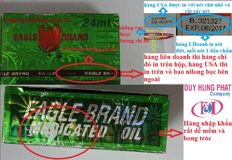 Dầu Gió Con Ó - Dầu Xanh Eagle Brand Xách Tay Từ Mỹ :2589