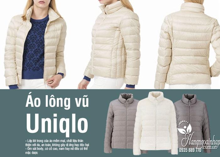 Áo lông vũ Uniqlo Nhật Bản chính hãng, không mũ, siêu nhẹ 9