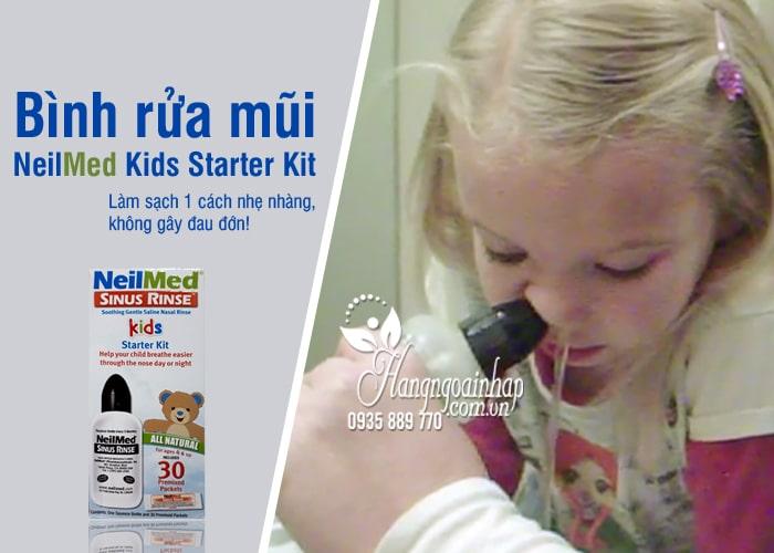 Bình rửa mũi NeilMed Kids Starter Kit 30 gói cho trẻ em của Mỹ 8