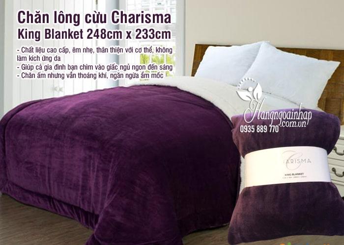 Chăn lông cừu Charisma King Blanket 248cm x 233cm cao cấp 4