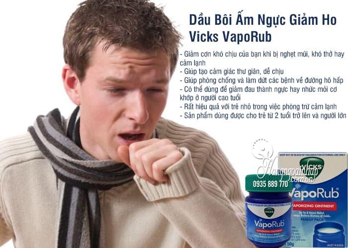 Dầu Bôi Ấm Ngực Giảm Ho Vicks VapoRub 50g 2