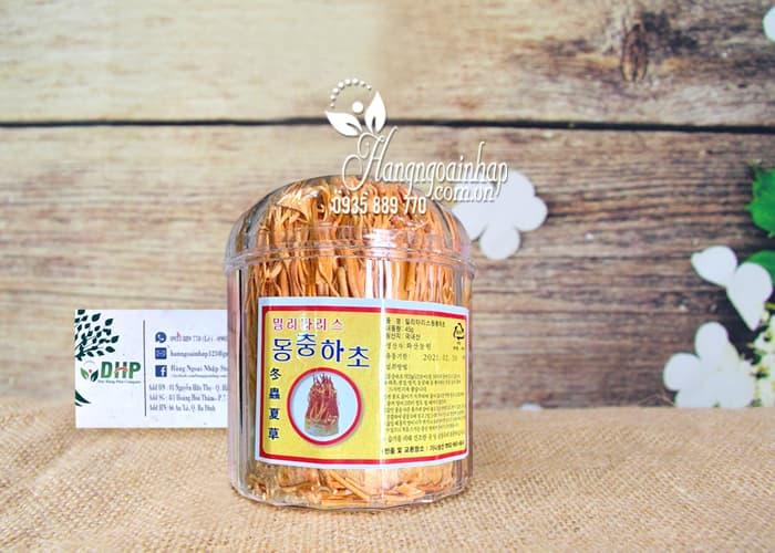 Đông trùng hạ thảo Hàn Quốc sấy khô hộp 45g bồi bổ sức khỏe 1