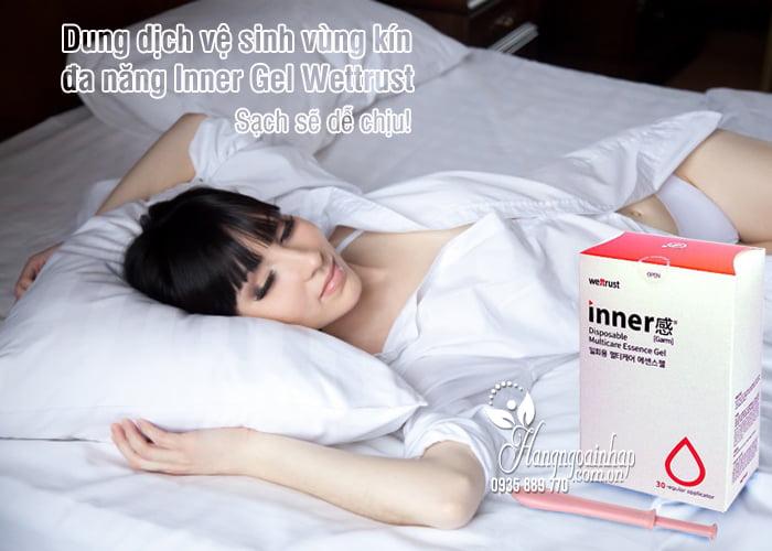 Dung dịch vệ sinh vùng kín đa năng Inner Gel Wettrust 30 ống, Hàn Quốc 5