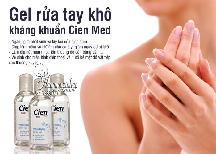 Gel rửa tay khô Cien Med 50ml của Đức, gel kháng khuẩn 3