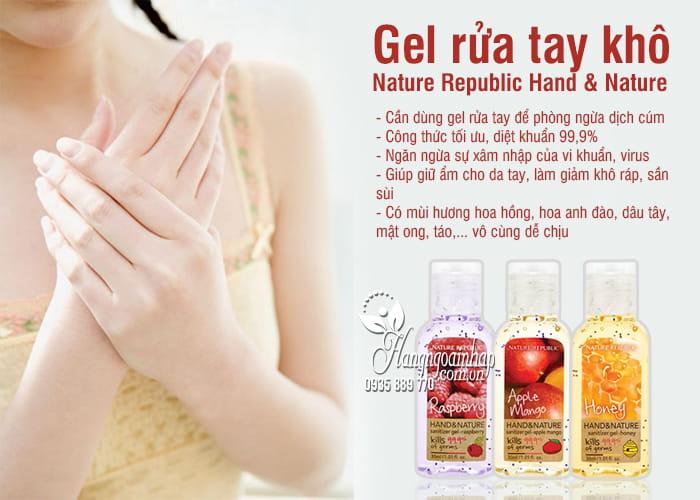 Gel rửa tay khô Nature Republic Hand & Nature 30ml Hàn Quốc 5