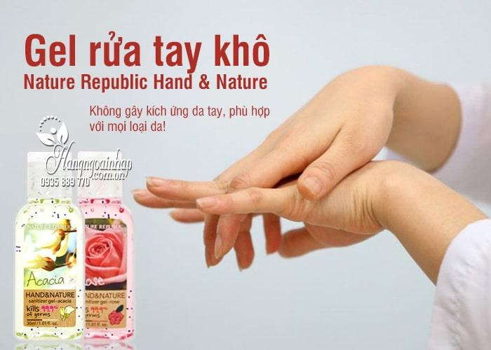 Gel rửa tay khô Nature Republic Hand & Nature 30ml Hàn Quốc 2