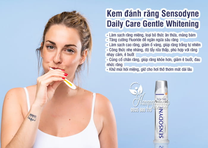 Kem đánh răng Sensodyne Daily Care Gentle Whitening 100ml 4