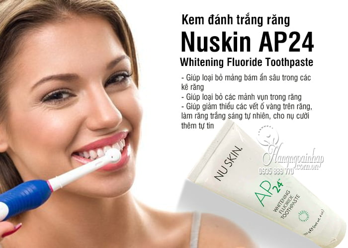 Kem đánh trắng răng Nuskin AP24 - Whitening Fluoride Toothpaste 5
