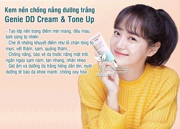 Kem nền chống nắng dưỡng trắng Genie DD Cream & Tone Up 5