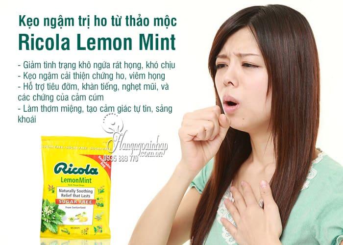 Kẹo ngậm trị ho Ricola Lemon Mint 105 viên từ thảo mộc 9