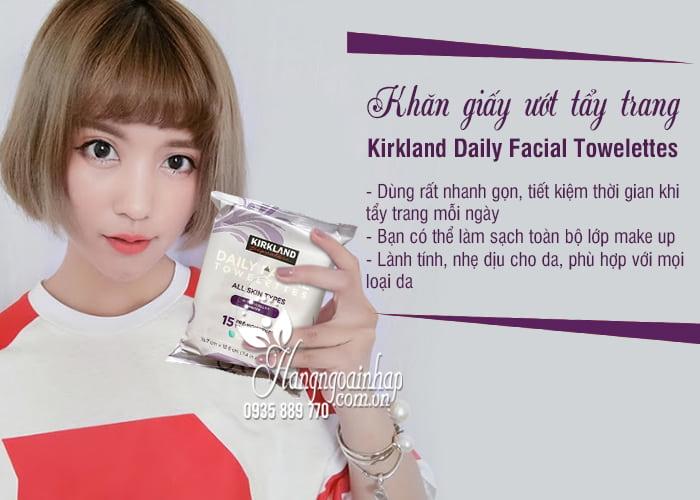 Khăn giấy ướt tẩy trang Kirkland Daily Facial Towelettes Mỹ 2