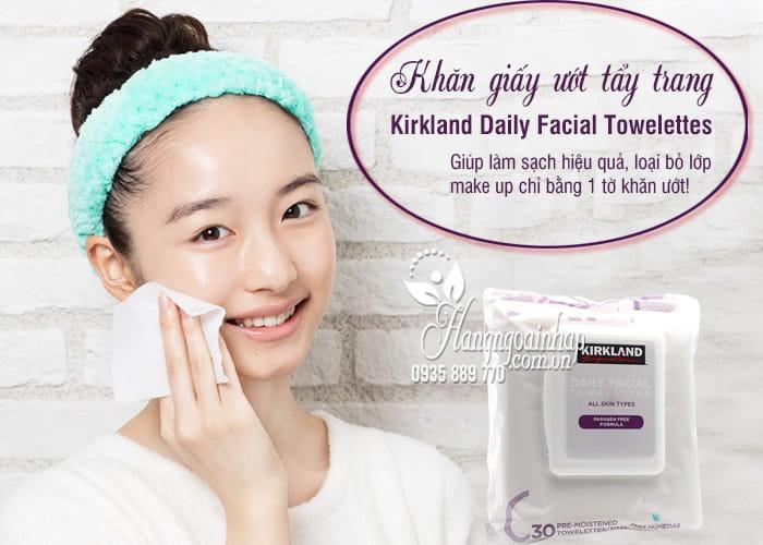 Khăn giấy ướt tẩy trang Kirkland Daily Facial Towelettes Mỹ 1`