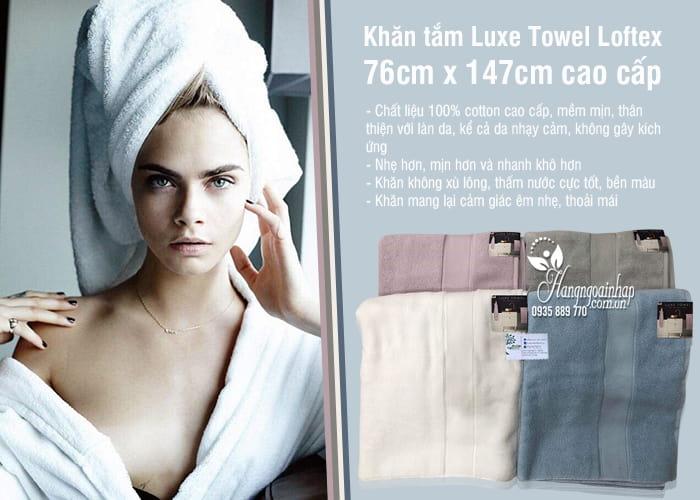 Khăn tắm Luxe Towel Loftex 76cm x 147cm cao cấp Mỹ 4