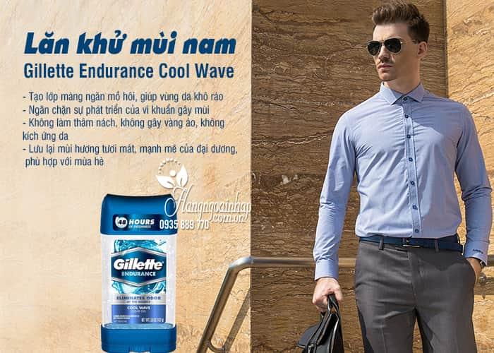 Lăn khử mùi nam Gillette Endurance Cool Wave 107g từ Mỹ 7