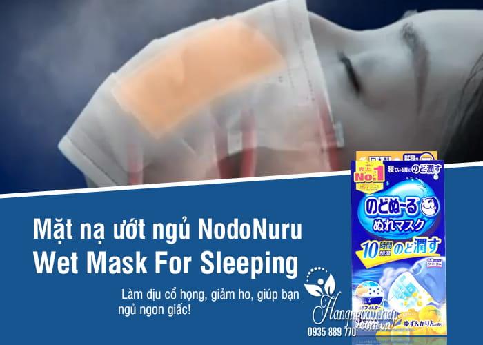 Mặt nạ ướt ngủ NodoNuru Wet Mask For Sleeping Nhật Bản 1