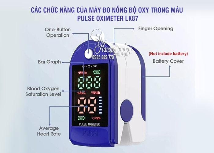 Máy đo nồng độ oxy trong máu Pulse Oximeter LK87 (đo SpO2) 1