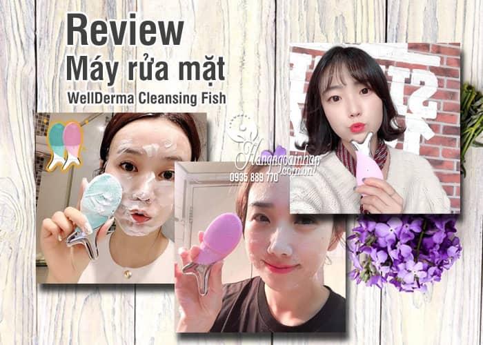 Máy rửa mặt WellDerma Cleansing Fish xanh, hồng của Hàn Quốc 5