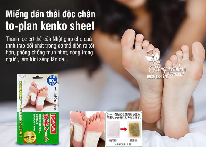 Miếng dán thải độc chân to-plan kenko sheet của Nhật Bản 7