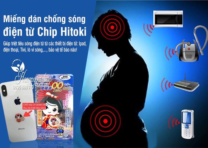 Miếng dán chống sóng điện từ Chip Hitoki của Nhật Bản 4