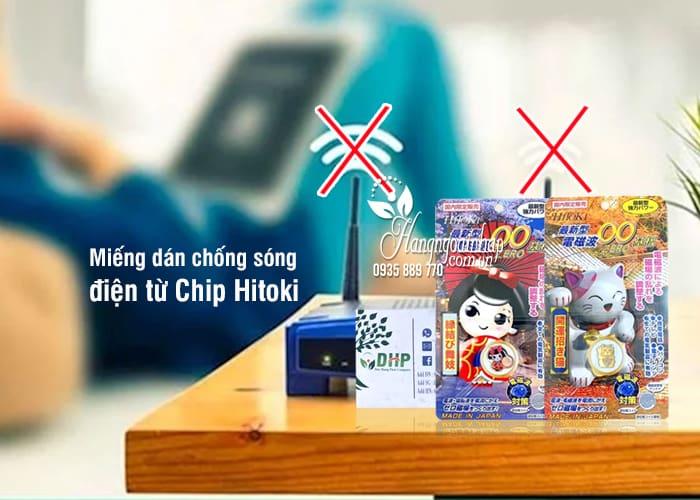 Miếng dán chống sóng điện từ Chip Hitoki của Nhật Bản 1