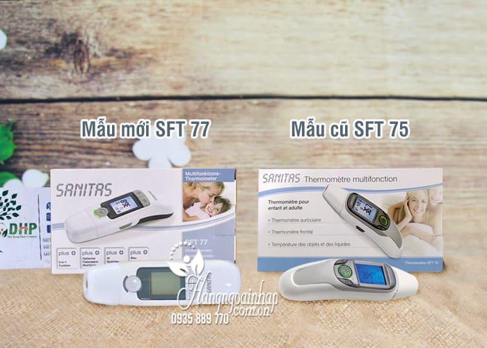 Nhiệt kế điện tử Sanitas SFT 77 của Đức 6 in 1 đo tai, trán, nước 1