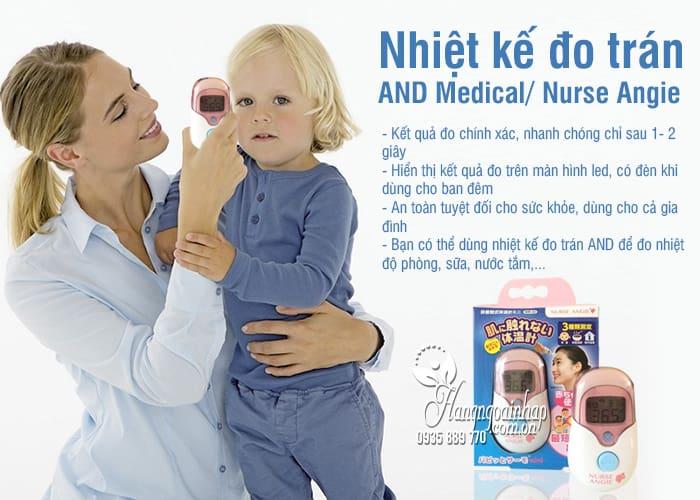 Nhiệt kế đo trán của Nhật Bản AND Medical/ Nurse Angie 3