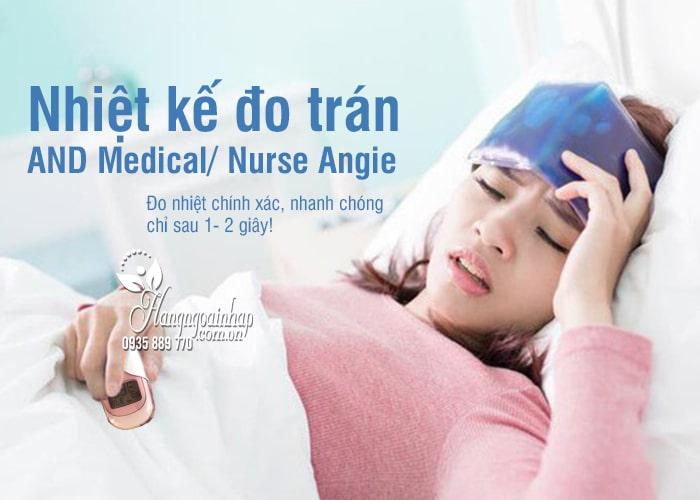 Nhiệt kế đo trán của Nhật Bản AND Medical/ Nurse Angie 7