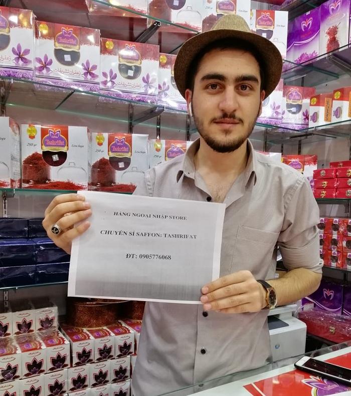 Nhụy hoa nghệ tây Tashrifat 100% Iranian Saffron chính hãng 77