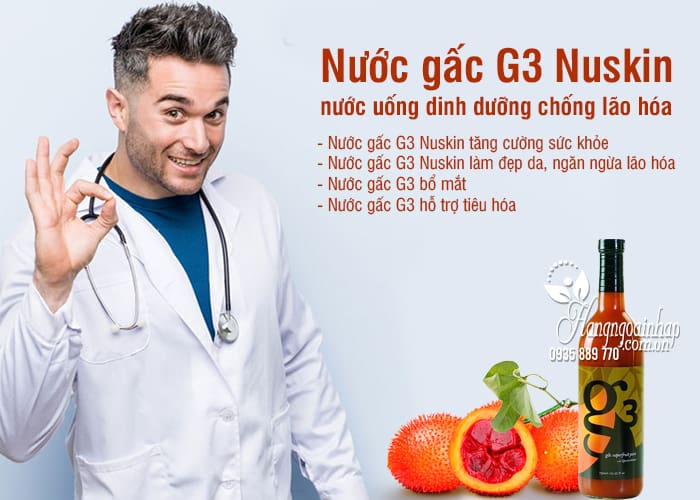 Nước gấc G3 Nuskin, nước uống dinh dưỡng chống lão hóa 4