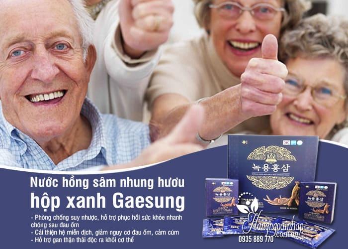 Nước hồng sâm nhung hươu hộp xanh Gaesung 30 gói x 50ml Hàn 3
