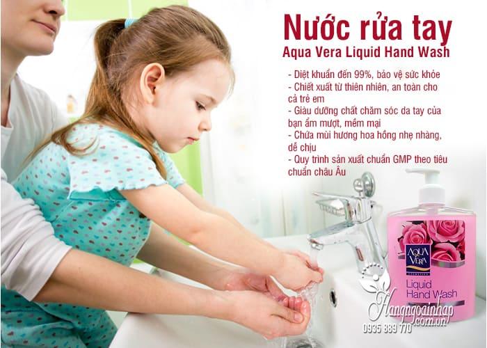 Nước rửa tay Aqua Vera Liquid Hand Wash 500ml hoa hồng 4