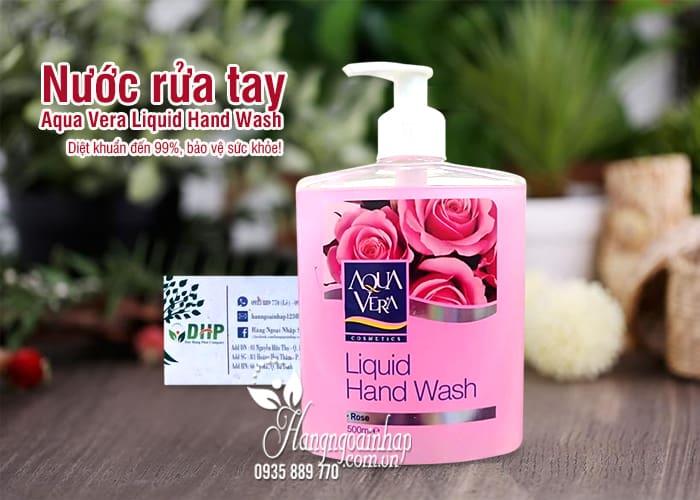 Nước rửa tay Aqua Vera Liquid Hand Wash 500ml hoa hồng 1