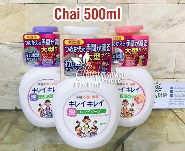 Nước rửa tay Lion Nhật Bản 250ml - hương hoa quả, trái cây 6