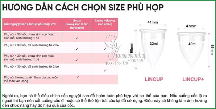 Cốc nguyệt san Lincup Made in USA cho phụ nữ 3