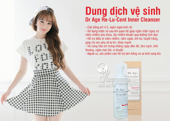 Dung dịch vệ sinh Dr Age Re-Lu-Cent Inner Cleanser Hàn Quốc 2