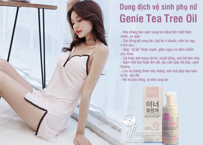 Dung dịch vệ sinh phụ nữ Genie Tea Tree Oil 100ml Hàn Quốc 6