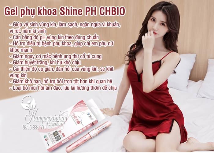 Gel phụ khoa Shine PH CHBIO Hàn Quốc, hộp 4 ống 7