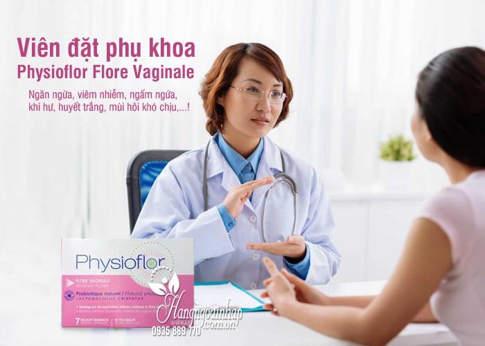 Viên đặt phụ khoa Physioflor Flore Vaginale của Pháp vỉ 7 viên 8