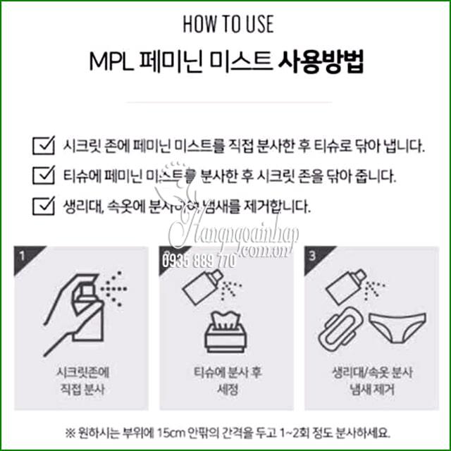 Xịt khoáng vùng kín PML Feminine Mist 50ml Hàn Quốc 9