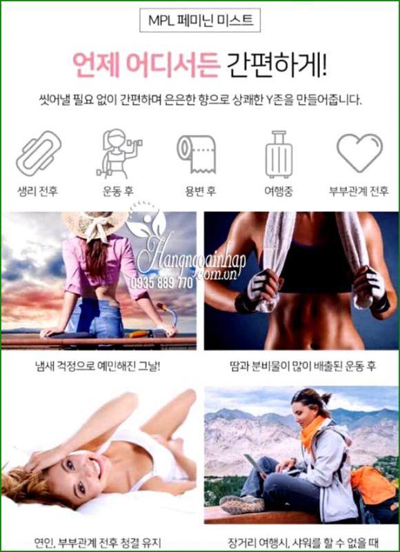 Xịt khoáng vùng kín PML Feminine Mist 50ml Hàn Quốc 8