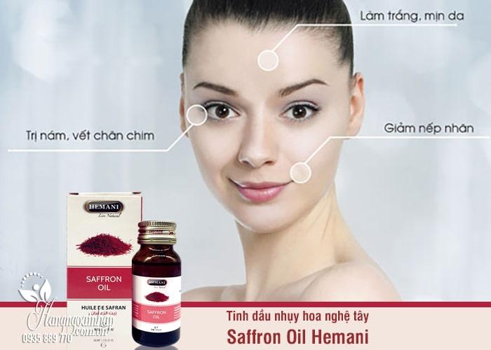 Tinh dầu nhụy hoa nghệ tây Saffron Oil Hemani 30ml chính hãng 5