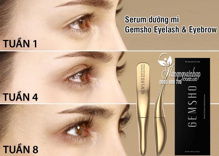 Serum dưỡng mi Gemsho Eyelash & Eyebrow 3ml của Mỹ 2