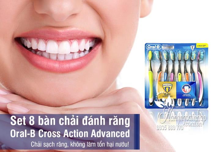 Set 8 bàn chải đánh răng Oral-B Cross Action Advanced Mỹ 1