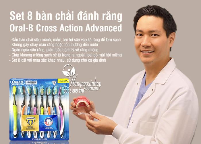 Set 8 bàn chải đánh răng Oral-B Cross Action Advanced Mỹ 4