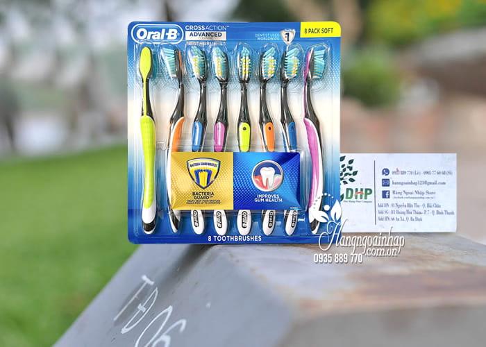 Set 8 bàn chải đánh răng Oral-B Cross Action Advanced Mỹ 2