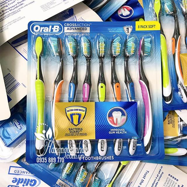 Set 8 bàn chải đánh răng Oral-B Cross Action Advanced Mỹ 8