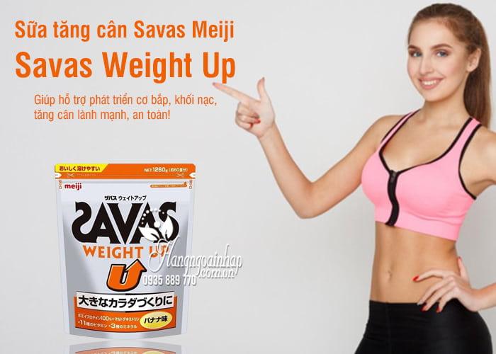 Sữa tăng cân Savas Meiji - Savas Weight Up 1260g Nhật Bản 1