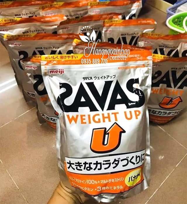 Sữa tăng cân Savas Meiji - Savas Weight Up 1260g Nhật Bản 7