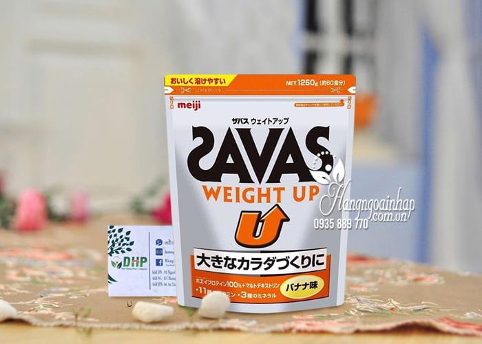Sữa tăng cân Savas Meiji - Savas Weight Up 1260g Nhật Bản 5