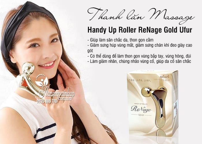 Thanh lăn massage Handy Up Roller ReNage Gold Ufurl Nhật Bản 2